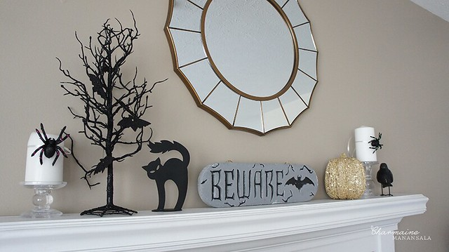 Halloween Decor - Mantle