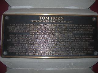Geschichtstafel über Tom Horn