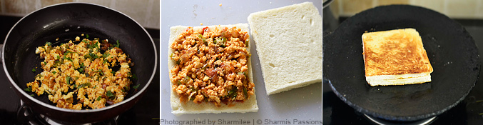 How to make paneer sandwich - Step3