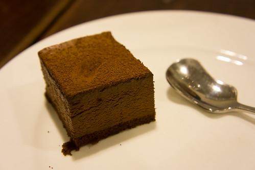 最後來一格朱古力蛋糕, 完美!