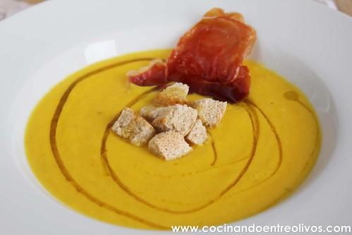 Crema de pimientos amarillos www.cocinandoentreolivos (2)