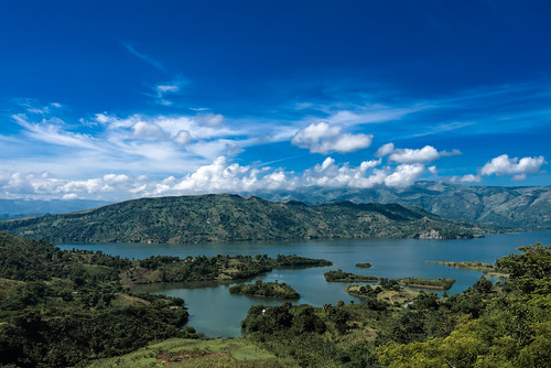 lake green clouds landscape haiti cange peligre
