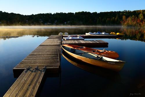 lake fall sunrise landscape quebec lac lacrond sainteadele nikond800