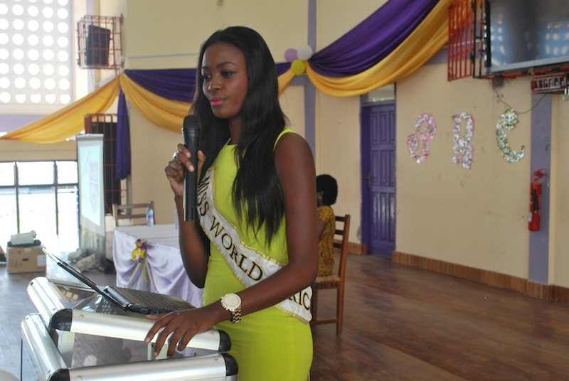 Naa Okailey Shooter visits Mfantsiman Girls' SHS