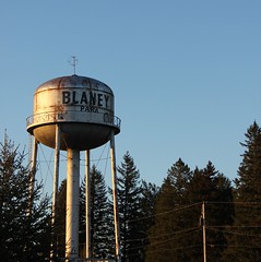 water tower, landmark, tower, lighting,