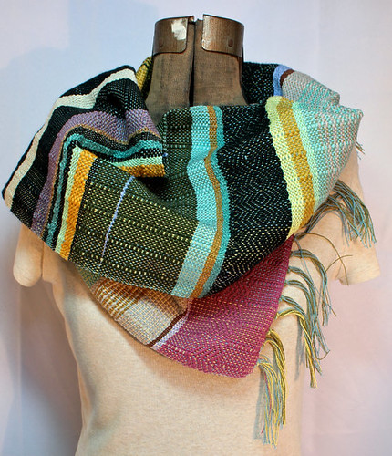 Handwoven Lightweight Spring Scarf by PidgePidge, Handmade Indie Winter Accessory