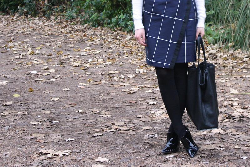 Whistles Lana slate print skirt