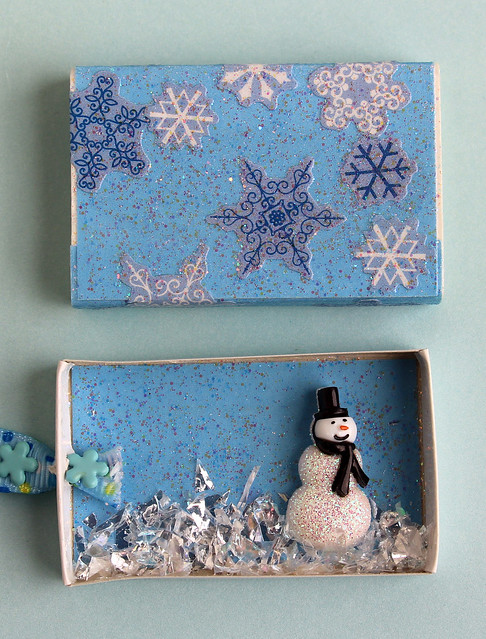 Snowman Matchbox Ornament