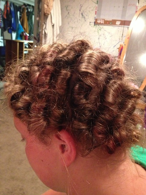 Tight stand up pin curls