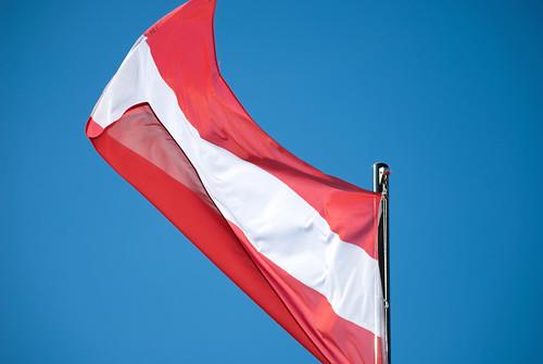 Austrian Flag, Hohensalzburg Castle, Salzburg