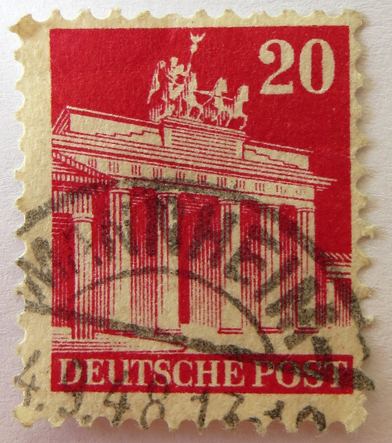german stamp deutsche post 20 pfennig brandenburger tor flickr photo sharing. Black Bedroom Furniture Sets. Home Design Ideas