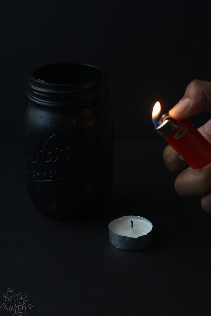 Tea Candle and Lighter