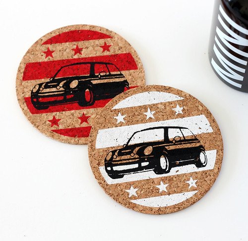 Stars and Stripes MINI Cooper Coasters