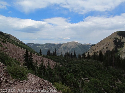 Hiking back from Cathedral Lake - it would be beautiful in the sunshine! White River National Forest, Colorado