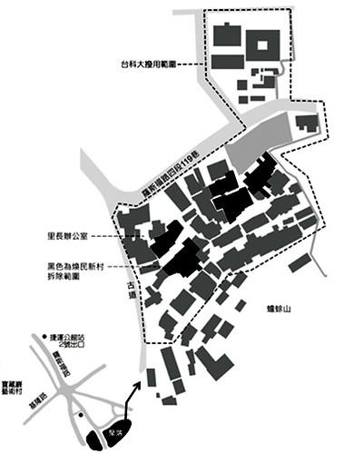 台科大預定校地圖,好蟾蜍提供,點我看大圖