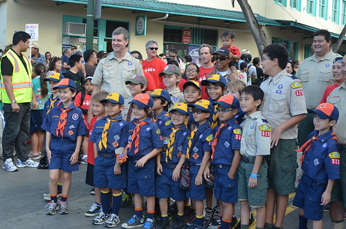 Scouts at the end of the parade