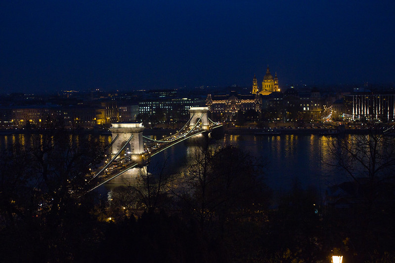 Thursday, November 14: Budapest! The end of a long day of finding our bearings and another walking tour. The view from the castle hill is vast and stunning.