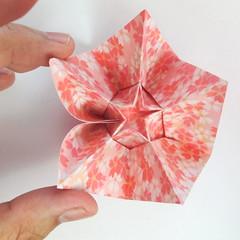 สอนวิธีการพับกระดาษเป็นดอกมะเฟือง (Origami Carambola) 027