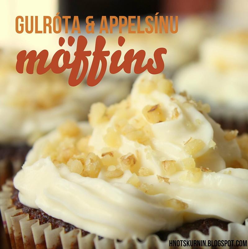 Gulróta & appelsínumöffins