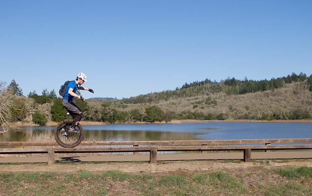 Josh on the dam