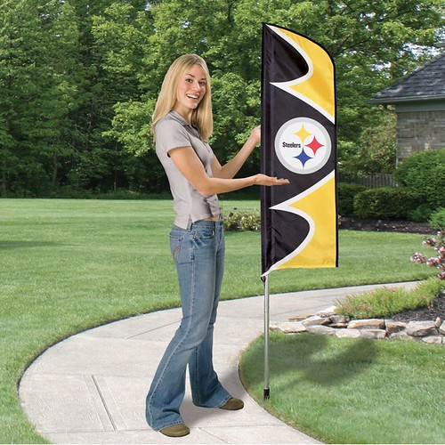 Pittsburgh Steelers Short Feather Flag