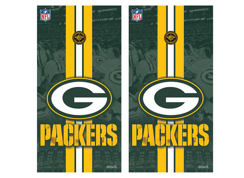 Green Bay Packers Cornhole Game Decal Set
