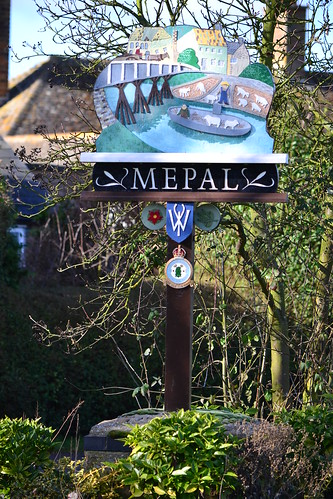 RAF Mepal - village sign