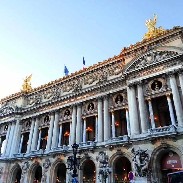 L'opéra de Paris.