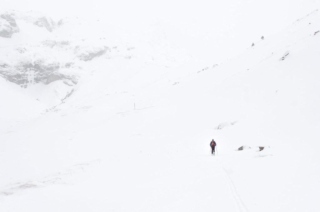 Parc naturel de la Vanoise - Randonnée à ski - Déjà loin