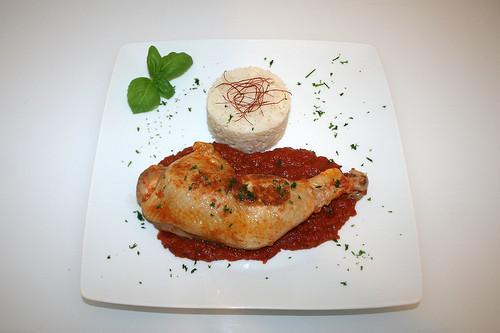 36 - Karibisches Ingwer-Huhn - Serviert / Caribbean ginger chicken - Served