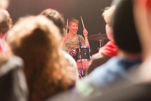 Drummer tijdens Lekker Bredaas