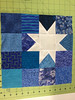 Deb's wonky star blocks for April.