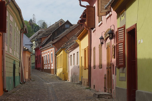 The streets of Sighisoara