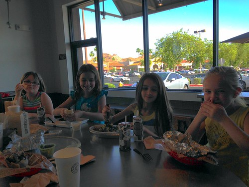 Madeline's birthday party at Chipotle
