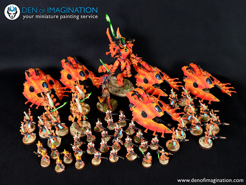 Orange eldar army den of imagination painting conversions an error occurred publicscrutiny Images