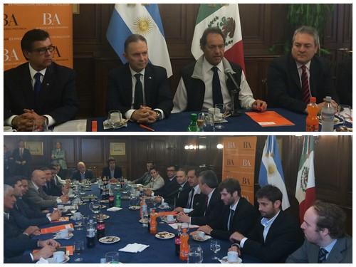 Parte misión comercial rumbo a México, Embajada de México en Argentina
