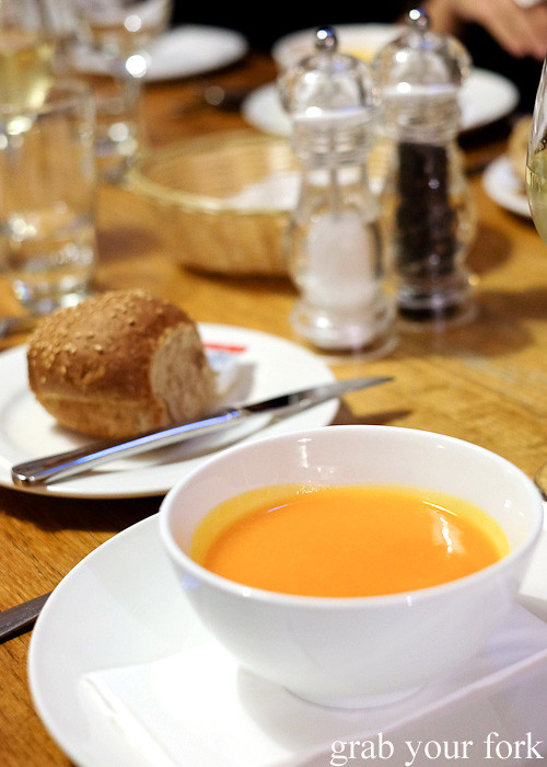Pumpkin and ginger soup at Solar Springs Health Retreat, Bundanoon