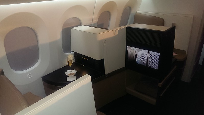 Business class on the B787