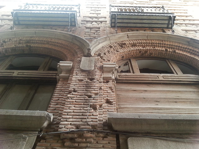 Restos de balazos de la Guerra Civil en el Casino de Toledo