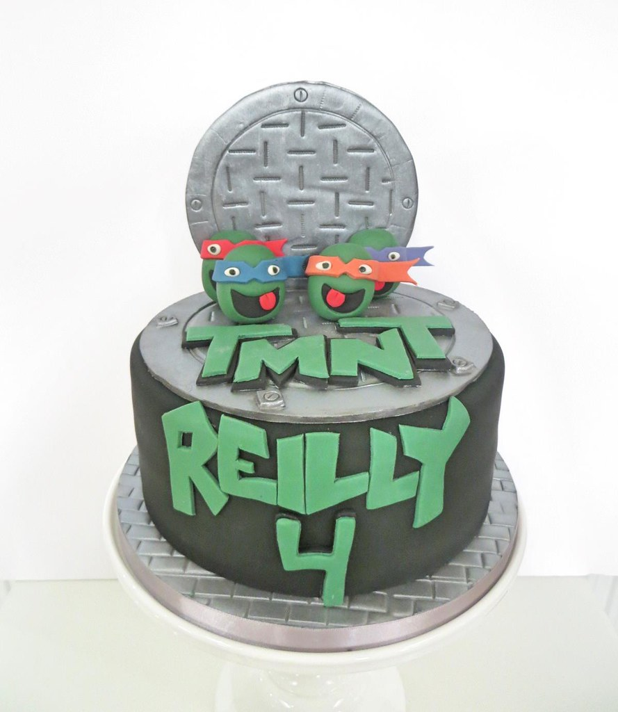 Excellent Tmnt Birthday Cake A Cherry On Top Scotland Flickr Personalised Birthday Cards Paralily Jamesorg