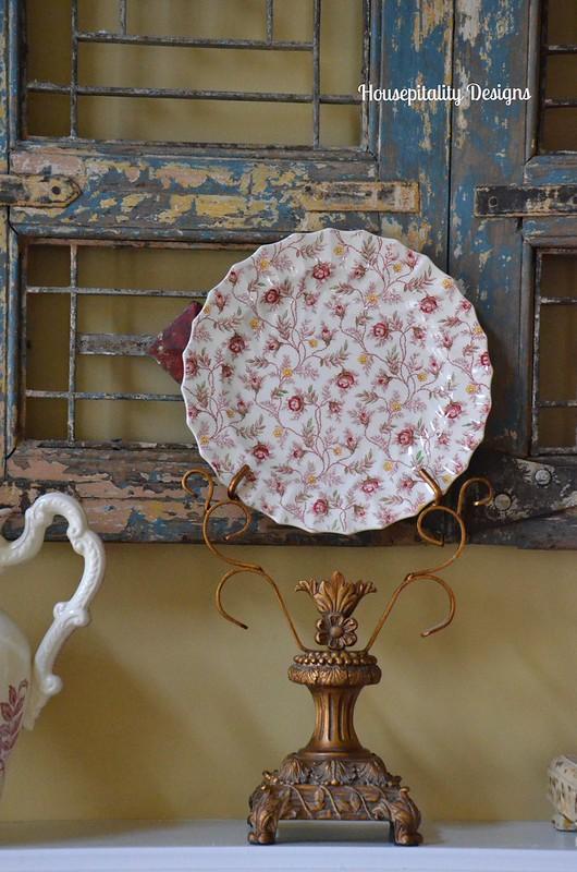 Spode Rosebud Chintz Plate-Housepitality Designs