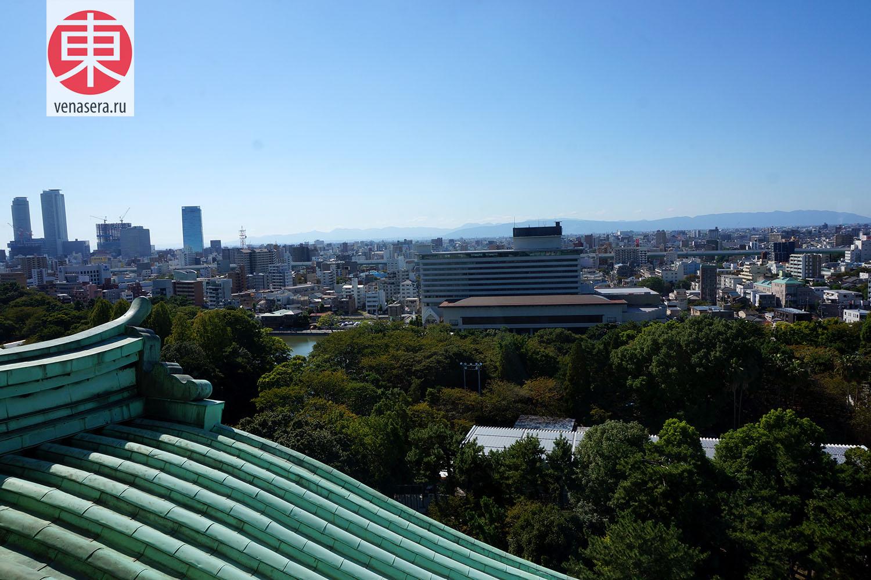 Вид из Замка Нагоя