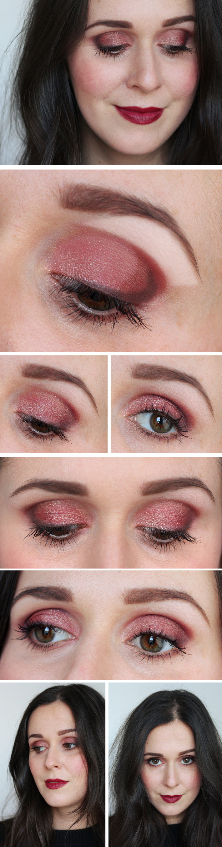 tutorial: dark red smokey eye