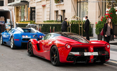 Ferrari Laferrari and Bugatti Veyron Grand Sport