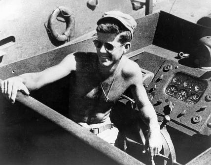 John F. Kennedy a bordo de la PT-109