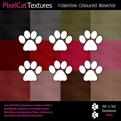 PixelCat Textures - Valentine Coloured Material