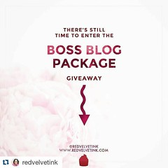 #Repost @redvelvetink with @repostapp ・・・ There's still time to enter the Boss Blog Package giveaway! One person will win some awesome services presented from me and some other amazing girl boss entrepreneurs! See the graphic below posted three days ago t