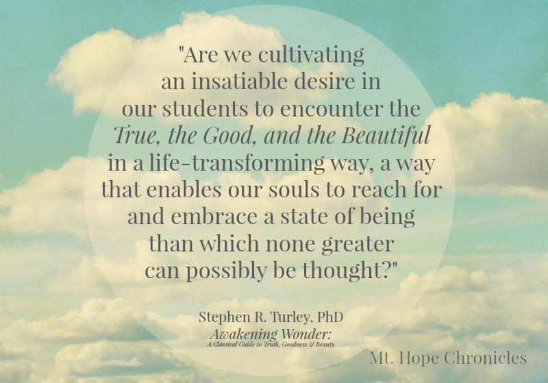 True, Good, and Beautiful @ Mt. Hope Chronicles