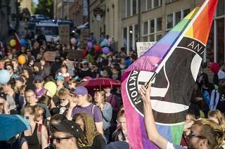 """06.06.2016 - Feministische Demonstration gegen den """"Schweigemarsch für das Leben"""" in Annaberg-Buchholz"""