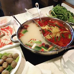 小肥羊 hot pot 🍲 on a hot night 🌆